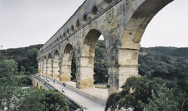 The pictures was taken at the Pont du Gard outside of Nimes Fran